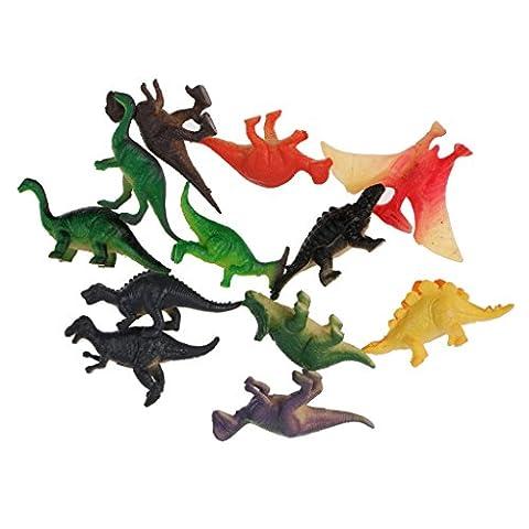 MagiDeal 12pcs Plastique Figurines Animal Modèle Dinos Insectes Sauvage Marin