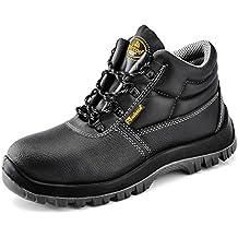 Botas de seguridad Impermeable y Transpirable - Safetoe 8010 Calzado de Trabajo Industrial con Puntera de Acero de Color Negro
