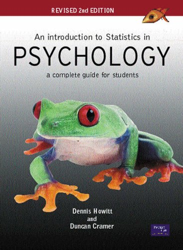 An Introduction to Statistics in Psychology: Revised 2nd Edition: A Complete Guide for Students