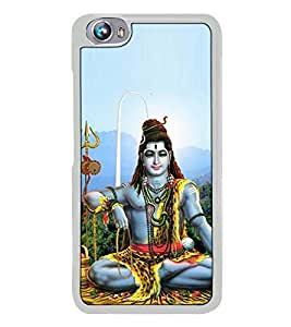 Fuson Designer Back Case Cover for Micromax Canvas Fire 4 A107 (har har Mahadev Nandi cow Shiv Ling Pind)