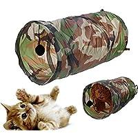Broadroot Herramienta plegable para tienda de campaña para mascotas, túnel para gatos, pasajes, se limpia con un paño con timbre