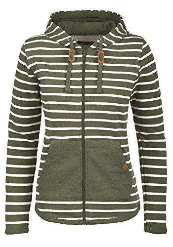 Blend She Clara Damen Sweatjacke Kapuzenjacke Hoodie mit Kapuze und Fleece-Innenseite, Größe:S, Farbe:Ivy Green (77026)