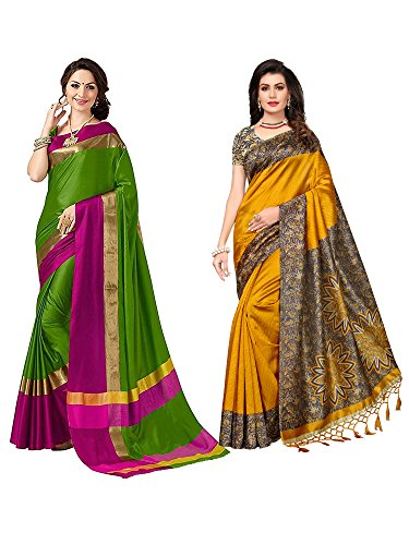 Mrinalika Fashion Art Silk saree combo offers for women