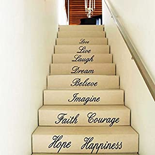 Internet Love Live Hope Laugh Wall Quote Decal Removable Stair Wall Stickers Decor Vinyl