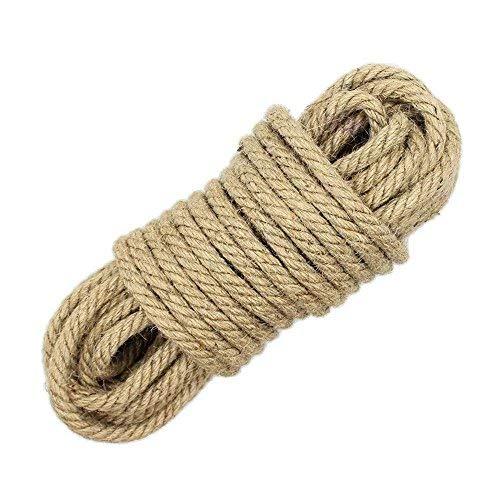 Wolike lungo 10 meters, corde di canapa naturale 6 mm di spessore e resistente corda di iuta corde, multiuso corda utilità sisal MS002