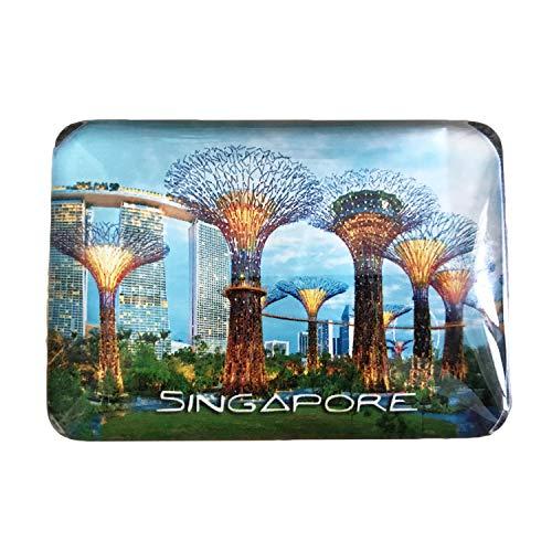 3D Singapur Kühlschrank Kühlschrankmagnet Kristall Glas Magnet Handmade Tourist Travel Souvenir Sammlung Geschenk Whiteboard Magnetischen Aufkleber Dekoration