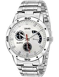 ZAVIO Silver Dial Analog Watch For Men - Z 301 Wrist Watch