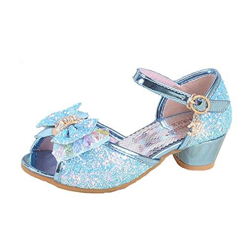 Cool&D Mädchen Sandalen Frozen Schuhe Prinzessin Sandalen Sommer Absatz-Schuhe ()