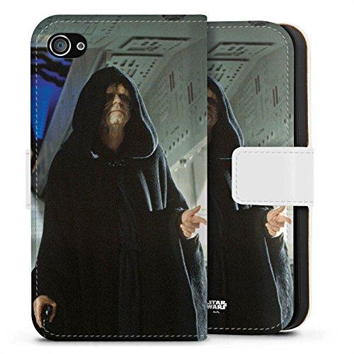 Apple iPhone X Silikon Hülle Case Schutzhülle Star Wars Merchandise Fanartikel Darth Sidious Sideflip Tasche weiß