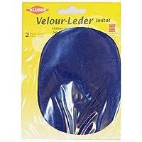 Kleiber - Rodilleras/coderas ovaladas de antelina, para coserlas, 12,5 x 10 cm, color azul real