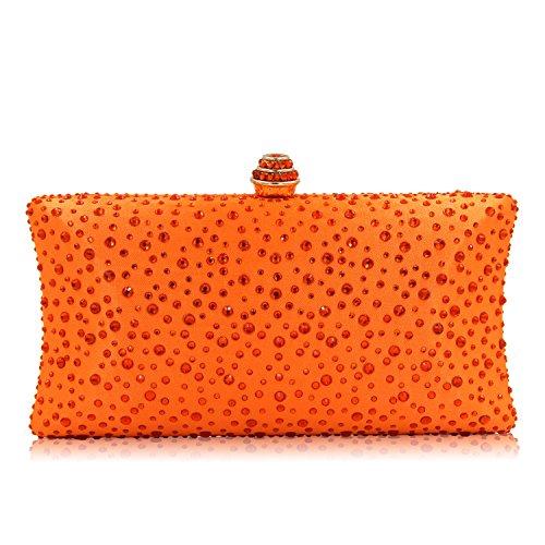 YYW Evening Bag, Damen Clutch, orange - Orange - Größe: One Size (Silver Womens Cocktail Kleider)