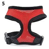 Alcyoneus, imbracatura per cuccioli di cane, regolabile, con collare morbido e maglia in rete, ideale per camminare in pieno controllo