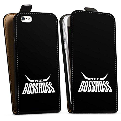 Apple iPhone 5c Silikon Hülle Case Schutzhülle The BossHoss Fanartikel Merchandise Downflip Tasche schwarz