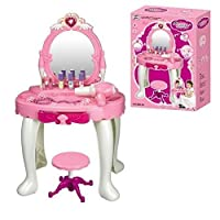 Pink Glamour Mirror Dressing Table With Seat by Fastcar