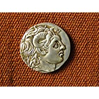 Tetradracma dracma Lysimachos Silver Alexander il grande 297 AC antica Grecia dracma Mitologia Storia Archeologia leggenda antropologia Conquistador Alessandro Magno