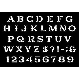 Schablone, westlicher Zeichensatz, verschiedene Größen, lebensmittelechtes Mylar A-Material, Natural Mylar, A2 (594mm x 420mm)
