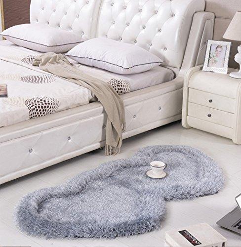 Habitación de matrimonio Alfombra festiva Dormitorio Alfombra de baño Encantadora alfombra en forma de corazón ( Color : D , Tamaño : 70*140cm )