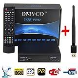V9S PRO Decoder Satellitare FTA DVB-S2 TV Ricevitore Satellitare Digitale Radiodiffusione TV Sat Ricevitore (PVR ready, Full HD, HDMI, MPEG-5) con USB WIFI