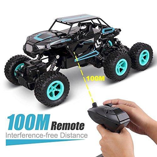RC Auto, 1:14 RC Ferngesteuertes Auto Remote Control Car Rock Crawler 6WD Elektrische Hoher Geschwindigkeit Monster Truck RC Buggy/Off Road Fahrzeug - 5