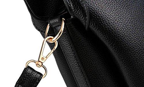 Lady Fashion Gaufré Sac à Main Black