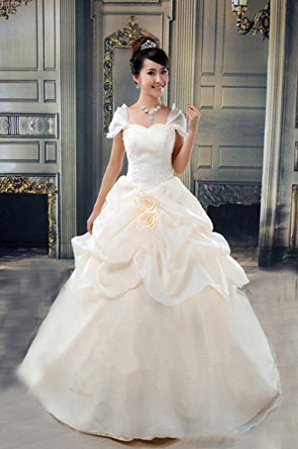 Sei Moderne Braut Brautkleid Sü?e und Elegante Prinzessin Qi Hochzeit Braut Brautjungfer Kleid,B,L