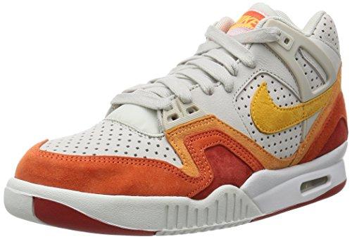 Nike Air Tech Challenge Ii Qs, Chaussures de Tennis Homme, Gris Coloris variés (blanc / orange (marron clair / orange laser - cinabre - blanc sommet))
