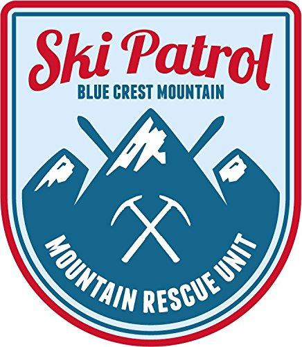 ski-patrol-blue-crest-mountai-sport-alta-calidad-de-coche-de-parachoques-etiqueta-engomada-10-x-12-c