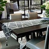CTao Tischfahne Tischtuch Handgemachte Weben Dekoration Quaste Bett Tischläufer Einfache Moderne Mode Tee Tischdecke TV-Schrank Western Restaurant Stoff Tischfahne Bett Flagge,Grey-13x55Inch