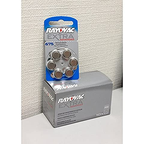 Rayovac PR-44 (675) Extra Advanced 1.4V Zinc-Air