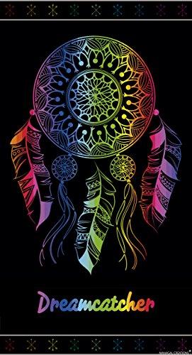 Textil Tarrago Serviette de plage 100 % coton égyptien motif attrape-rêves Multicolore 90x 170cm
