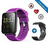 """leegoal Q9 Waterproof Fitness Tracker Watch, 1.3"""" Color Touch Screen Smart Bracelet"""