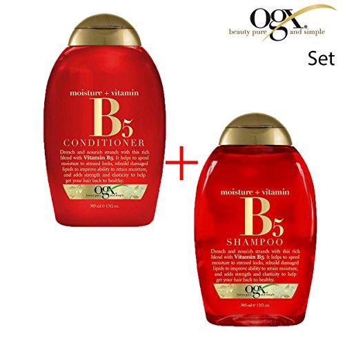 OGX Organix - SET moisture + Vitamin B5 1 x SHAMPOO + 1 x CONDITIONER feuchtigkeitsspendend (Organix Set)