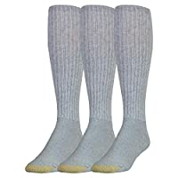 Gold Toe Men's Ultra Tec Performance Over-The-Calf Athletic Socks, 3 Pairs, grey heather, Shoe Size: 6-12.5