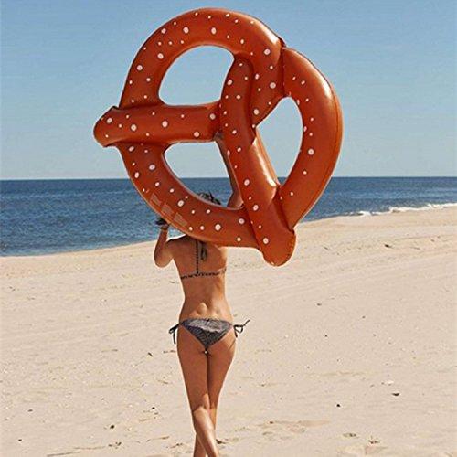 Mystery&Melody Riesen Donut Float Pool Aufblasbare Float Outdoor Pool Float Raft Lounge Liege Floating Lounge Spielzeug für Erwachsene Kinder -