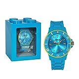 Colour-Bags Home & Living Farbige Armbanduhr/Sportuhr / Lifestyle-Uhr - Time2you - Trendfarbe Babyblau & Gelb - mit Silikonarmband - für DE kostenlose Lieferung ab EUR 29,00