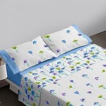 Burrito Blanco Juego de sábanas 456 Azul de cama de 150x190/200 cm