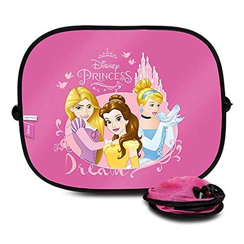 Disney Princesas PRIN101 Auto-Sonnen-Schutz und Sonnen-Blende für Baby und Kinder, 2 Stück