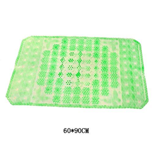 BBYE Tapis de bain Salle De Bain Antidérapante Matières Planches Creuses / Coussin D'aspiration En PVC ( Multicolores Facultatif) ( Couleur : Vert )