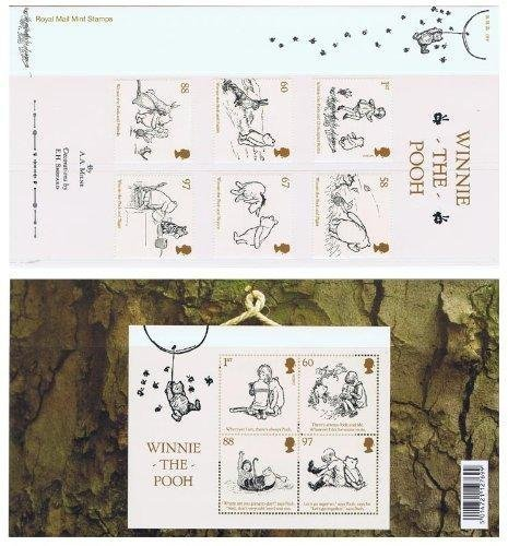 2010 Winnie the Pooh Stamps in Presentation pack by Royal Mail