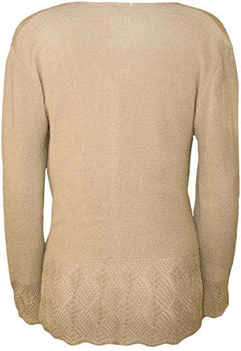 WearAll - Cardigan tricoté et découpé avec les boutons et les manches longues - Cardigans - Femmes - Grandes tailles 42 à 52 Pierre