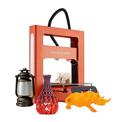 JGAURORA A3S 3D Kit de Impresora DIY Full-metal Frame 2.8 Pulgadas Pantalla Táctil Colorida Funciona Reanudar la Función de Impresión de Resúmenes Building volumen 20.5 * 20.5 * 20.5 cm