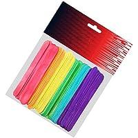Pryse 5110052 - Pack de 50 palos de polo, 114 x 10 x 2 mm, multicolor