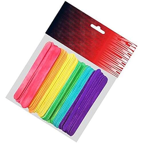 goma eva kawaii Pryse 5110052 - Pack de 50 palos de polo, 114 x 10 x 2 mm, multicolor