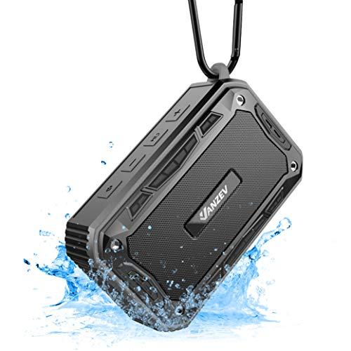 VANZEV Tragbare Bluetooth Lautsprecher Boxen mit FM Radio eingebautem Mikrofon IPX7 Wasserdicht, Top für Fahrrad-Fahren Party Strand Reise PC Outdoor Dusche iPhone Samusng, Schwarz
