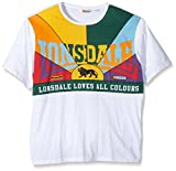 Lonsdale Herren Langarmshirt T-Shirt Trägerhemd Lonsdale Loves All Colours weiß (Weiß) Small