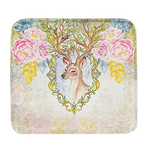 Vosarea Komfortable Verdicken Sitzkissen Stuhl Pad Matte Dekorative Memory Foam Kissen (Sika Deer Muster) - Deer Dekorative Kissen