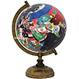 Globeskart Educational/Antique Globe With Brass Antique Arc And Wooden Base / World Globe / Home Decor / Office Decor / Gift Item / 8 Inches (Country Map Globe Black)