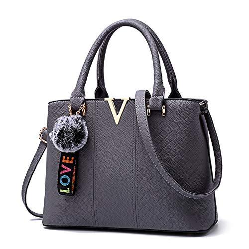(2018 neue Tasche weibliche Mode Diagonale Kreuz Trend einzelne Schulter Frauen Stereotyp Handtasche Handtasche (Farbe : Hellgrau, größe : 34 * 26 * 17cm))