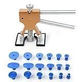 PDR Werkzeuge, Auto Body Dent Entfernung Werkzeug, Riola Reparatur Abzieher-Kits, Gold Dent Lifter mit 18pcs Dent Entfernung Ziehen Taben Saugnapf Teller
