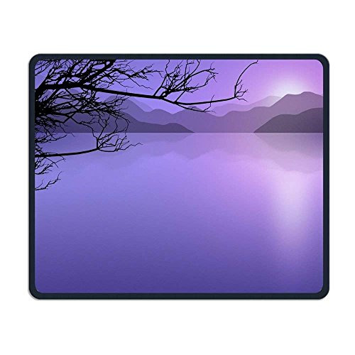 Mouse Pad, Purple Branch Mouse Pads, Magic Keyboard PC Gaming Optical Laptop Wired SurfaceMouse Pad Mat for Women Men at Home or Work Ihome Notebook